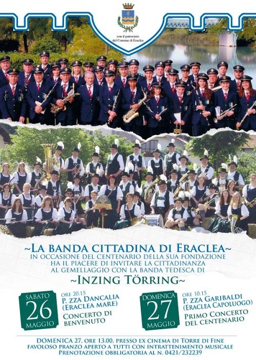 Gemellaggio della Banda cittadina di Eraclea con la Banda tedesca di Inzing Törring.