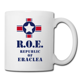 MUG FLAG BLUE STAR REPUBLIC OF ERACLEA